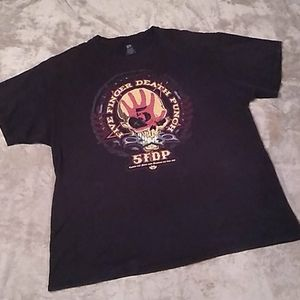 Five finger death punch band tee cream/red